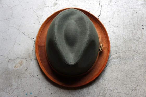 Dyed Canvas Leather Hat !